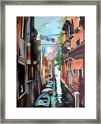 Venetian Channel 2 Framed Print