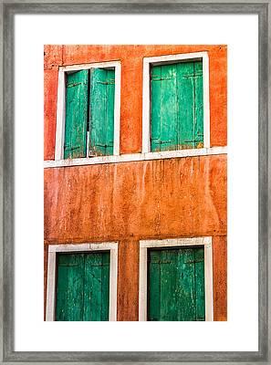 Venetian Houses Framed Print