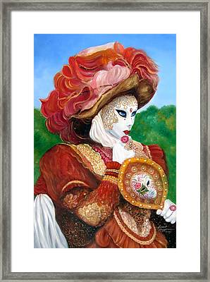 Venetian Rhapsody In Red Framed Print by Leonardo Ruggieri