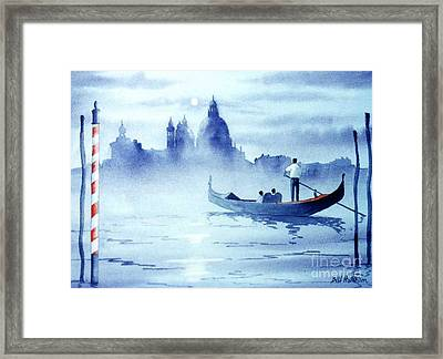 Venice By Moonlight Framed Print by Bill Holkham