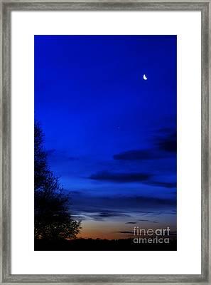 Venus And Moon  Framed Print by Thomas R Fletcher