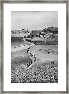 Framed Print featuring the painting Verde Sentiero by Loredana Messina