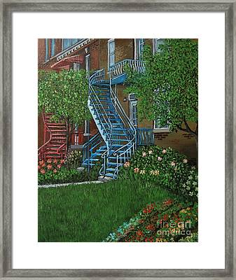 Verdun Stairs Framed Print by Reb Frost