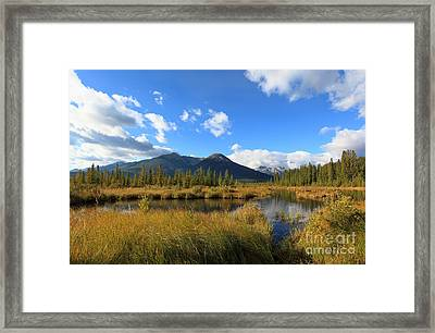 Vermillion Lakes Banff Alberta Framed Print