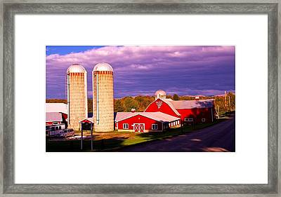Vermont Dairy Farm. Framed Print by Stan Amster