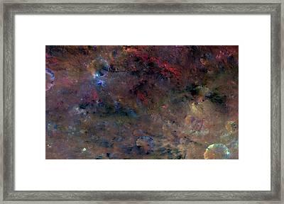 Vesta Asteroid Surface Framed Print by Nasa/jpl-caltech/uclamps/dlr/ida