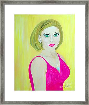 Framed Print featuring the painting Victoria. Inspirations Collection. by Oksana Semenchenko