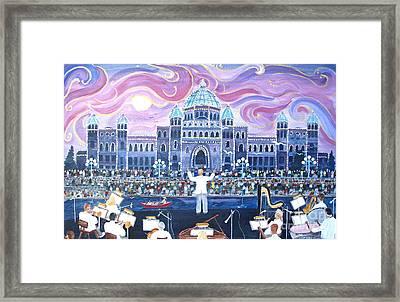 Victoria Symphony Splash Framed Print by Virginia Ann Hemingson