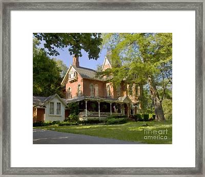 Victorian Brick House Framed Print by Tom Brickhouse