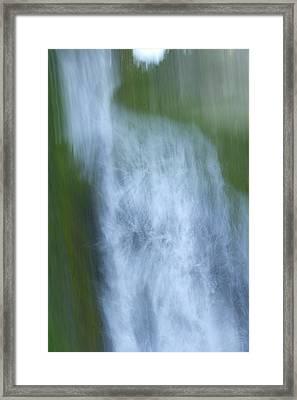 Vidae Falls In Crater Lake National Framed Print