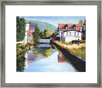 View Along The Canal Framed Print by Robert Henne