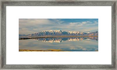 View From Antelope Island Causeway Framed Print by Howie Garber
