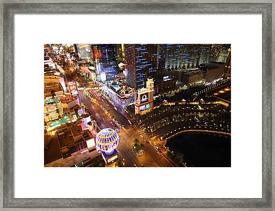 View From Eiffel Tower In Las Vegas - 01131 Framed Print