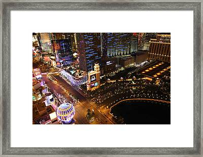View From Eiffel Tower In Las Vegas - 01132 Framed Print