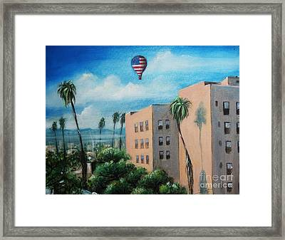 Framed Print featuring the painting View From Olympic Boulevard by S G