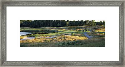 View Of A Golf Course, Broome County Framed Print