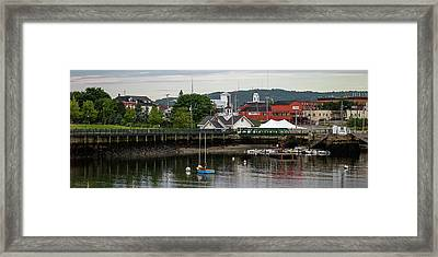 View Of Boats At A Harbor, Rockland Framed Print
