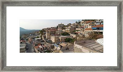 View Of Houses In A City, Safed Zfat Framed Print