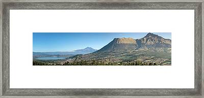 View Of Lago Del San Pablo And Imbabura Framed Print