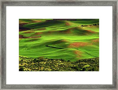 View Of Palouse From Steptoe Butte Framed Print by Michel Hersen