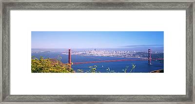 View Of The Golden Gate Bridge, San Framed Print