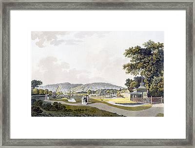 View Of The Park At Neu-waldeg Framed Print