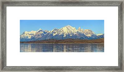 View Of The Sarmiento Lake Framed Print by Panoramic Images