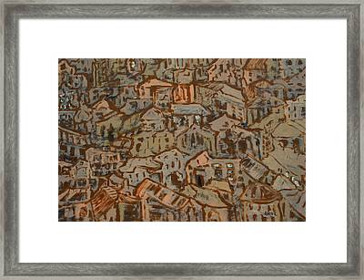 View Of Town Framed Print by Oscar Penalber