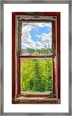 View Through A Window Framed Print
