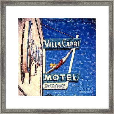 Villa Capri Framed Print