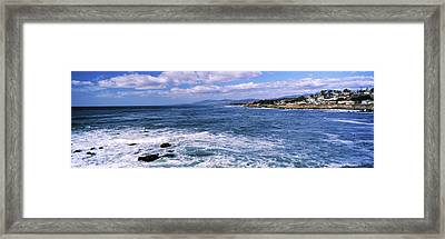 Village At The Waterfront, Cambria, San Framed Print