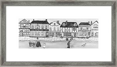Framed Print featuring the painting Villaggio Antico by Loredana Messina