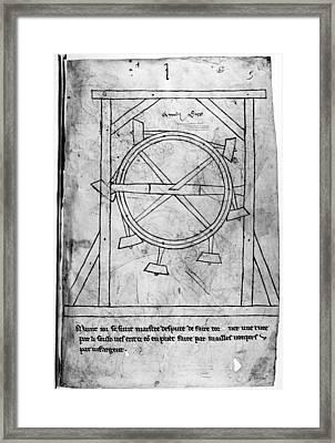 Villard De Honnecourt Framed Print by Granger