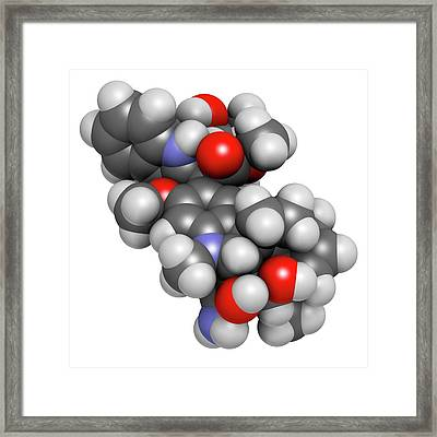 Vindesine Cancer Chemotherapy Drug Framed Print by Molekuul