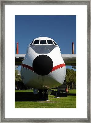 Vintage Argosy Cargo Aircraft Framed Print