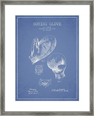 Vintage Boxing Glove Patent Drawing From 1894 Framed Print by Aged Pixel