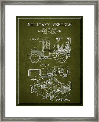 Vintage Military Vehicle Patent From 1942 Framed Print