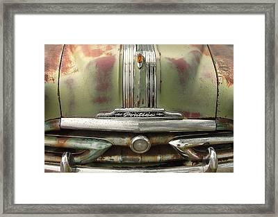 Vintage Pontiac Grille Framed Print by Jim Hughes