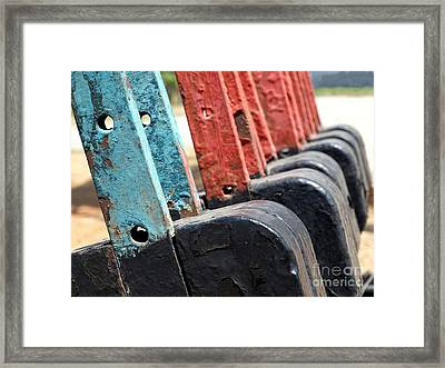 Vintage Railroad Switches Framed Print by Yali Shi