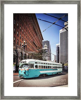 Vintage Streetcar San Francisco Framed Print by Colin and Linda McKie
