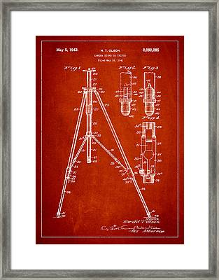 Vintage Tripod Patent Drawing From 1941 Framed Print