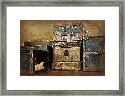 Vintage Trunks #1 Framed Print by Nikolyn McDonald