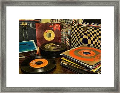 Vintage Vinyl Framed Print