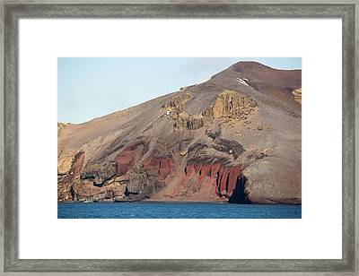 Volcanic Rocks On Deception Island Framed Print by Ashley Cooper