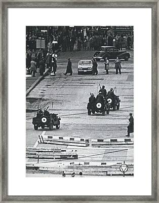 Volkspolice Tried To Hinder The American Traffic In Berlin Framed Print by Retro Images Archive