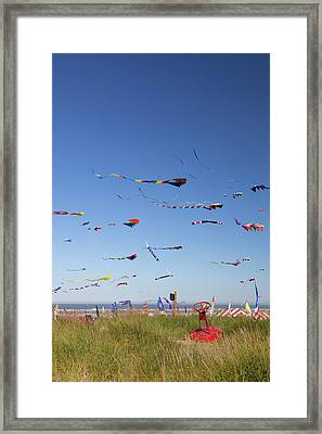 Wa, Long Beach, International Kite Framed Print by Jamie and Judy Wild