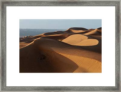 Wahiba Sands Desert, Oman Framed Print by Sergio Pitamitz