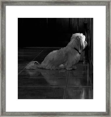 Waiting Framed Print by Hazel Billingsley