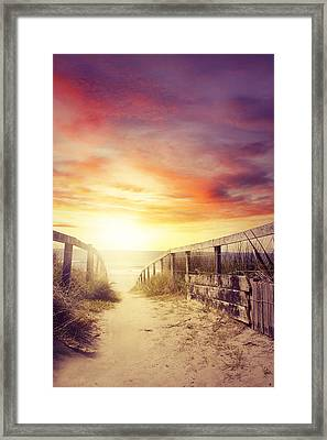 Walkway Framed Print by Les Cunliffe