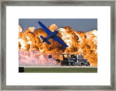 Wall Of Fire Framed Print